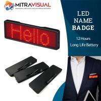 LED Name Badge / Name Tag Running Text