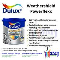 CAT EXTERIOR DULUX WEATHERSHIELD POWERFLEXX BRILLIANT WHITE 2,5 LITER