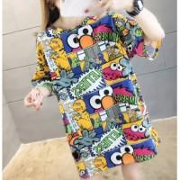 kaos crop tees pendek t shirt tumblr atasan wanita import cute lucu
