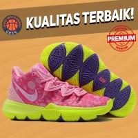 Sepatu Basket Sneakers Nike Kyrie 5 Patrick Star pink hijau