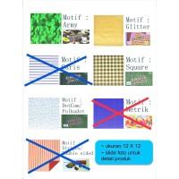 Kertas origami asturo motif 12X12 cm
