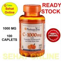 Puritan Pride Vitamin C 1000 with Rosehip & Bioflavonoids 100 Caplets