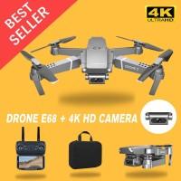 Drone E68 Mini RC 4K HD Camera WIFI FPV APP Controle Quadcopter Selfie - Silver