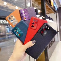 Hardcase iPhone X Leather Case + Pelindung kamera Belakang Exlusive