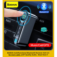 BASEUS Car Bluetooth Adapter Receiver AUX 3.5mm Wireless Audio 5.0