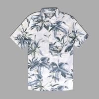 Kemeja Quiksilver Deep Bay SS Hawaiian Shirt Original Putih Ori 100%