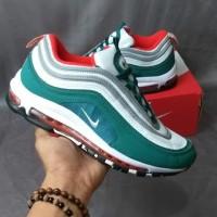 Sepatu Nike Airmax Air max 97 Green White Hijau Putih Premium