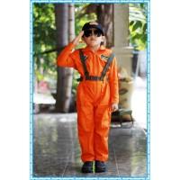 Baju Pilot Tempur anak Baju profesi Pilot tempur Warna Orange