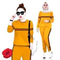 Setelan Training Lisa Baju Atasan & Celana Training, Baju Muslim Wanit
