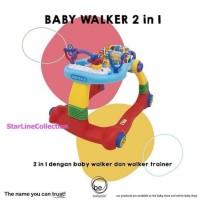 BabyElle 0188 Blue Red / Activity Baby Walker / Alat Bantu Jalan Bayi