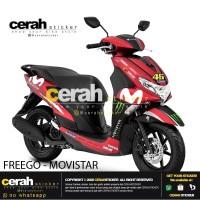 Decal stiker stripping motor Yamaha freego movistar red 2 cerah stiker