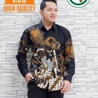 Wayang Mabur Kemeja Batik Pria Panjang Full Furing by AB