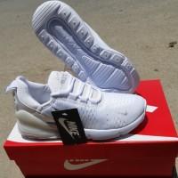 sepatu sneakers Nike air max270 cewek putih polos import premium