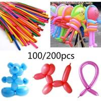 Balon Panjang Magic Bahan Latex Warna Warni untuk Dekorasi Pesta