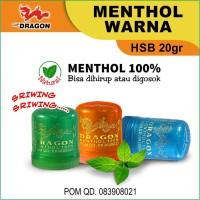 Menthol Gosok Cap Dragon (Po'peng) HSB Warna 20gr