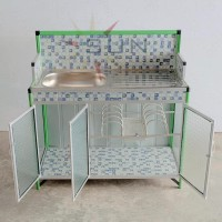 Terlaris|Best Seller| Meja Cuci Piring Keramik + Alumunium Super