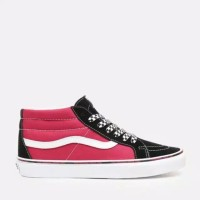 Sepatu Sneaker Vans SK8 High Black Red Premium