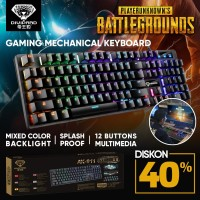 Keyboard Gaming Divipard AK911 Backlit Mechanical Gaming Keyboard