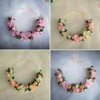 Flower Crown Bando 2 (BM+BK) ; Aksesoris rambut Mahkota Fashion