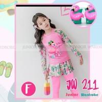 JW Junior wardrobe baju renang panjang ban anak flaminggo 2-7Y