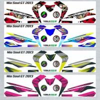 Decal Sticker Striping SEMI FullBody Variasi Mio Soul Gt 2012-2014