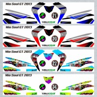 Decal Sticker Striping SEMI FullBody Variasi Mio Soul Gt 2012-2014 -1