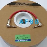 Kabel jumper efek gitar 25 cm jack L besi canare merah