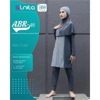 Alnita Baju Renang Muslimah Syari ABR 03 Aby Tua Hitam & Navy