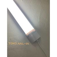 KAP LAMPU TL LED WATERPROOF 36 WATT PUTIH IP65 OUTDOOR - 18W