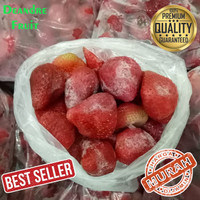 PROMO MURAH 500gr Buah Strawberry Frozen Stroberi Beku import quality