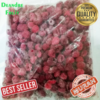 PASTI MURAH 500gr Raspberry Frozen Buah Beku Rasp Berry Merah
