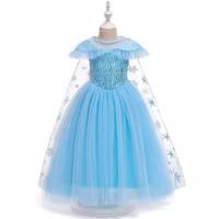 Baju pesta anak sz 3-8th dress anak cewek cantik kostum Frozen Elsa 5