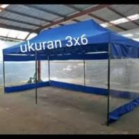 tenda lipat matic uk 3x6 bahan 1080D best quality full dinding 3 sisi