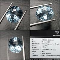 Batu Blue Aquamarine Beryl Memo 4.24 crt