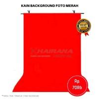 Kain Background Backdrop Latar Layar Foto Merah 1mx2.5m