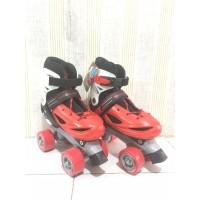 Sepatu Roda Power Line 4 ban roda empat ukuran M/L warna merah