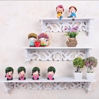 Rak Dinding Vintage rak Bunga Pajangan 3 in 1 Minimalis