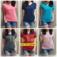 Vneck Tshirt Kaos Polos Wanita Atasan Baju kaos oblong wanita Fit to L