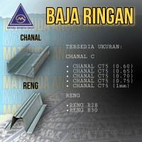 Kanal baja ringan / Channal C / Channal Baja Ringan C75 0,60-0,75 6mtr