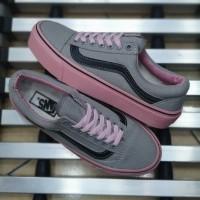 Vans Old School Abu Tua Pink Sepatu Casual Wanita