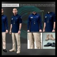 Seragam Baju Kemeja Pendek Trans Net TV Hitam Krem Biru Navy PDH PDL