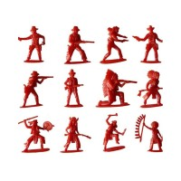 Mainan Anak: 70Pcs/Pak Action Figure Indian Klasik dan Cowboy