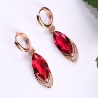 BEAUTY 1 pair Elegant Boho Zircon Bohemia Vintage Ruby Earrings