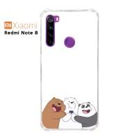 Custom Casing Redmi Note 8 Softcase Anticrack Motif Panda Lucu 21