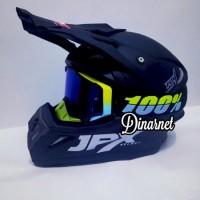 Helm Cross Jpx Trail Trabas Klx Black Dof Solid Kacamata Goggle Yell