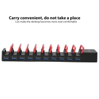 Hub Charging Dock Stand 4 / 7 / 10 Port USB untuk Handphone / Tablet