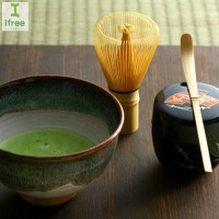 4 Pcs/Set Bamboo Matcha Tea Tools with Tea Whisk Hooked Scoop and