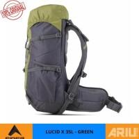 Kokomall Tas Ransel Hiking Eiger Lucid X 35L Original Rucksack - Green