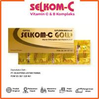 Selkom C Gold Multivitamin - Suplemen Kesehatan 1 Strip isi 10 Kapsul