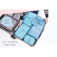 TERLARIS Traveling Bag in Bag Organizer Tempat Penyimpanan Baju Koper